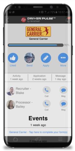 tenstreet driver app