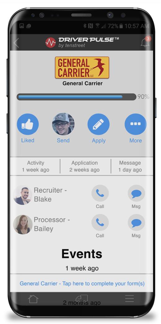 Tenstreet app screen shot 2020 11 10 at 25521 pm