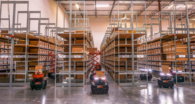 inVia robots in warehouse