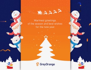 GreyOrange holiday card