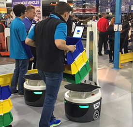 Locus robots at Modex