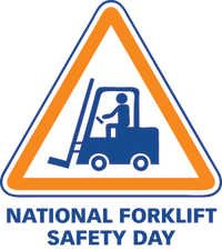 National Forklift Safety Day - icon of person driving truck