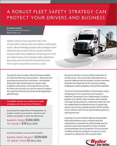 Reduce Risk and Cost with Your Fleet Safety Strategy