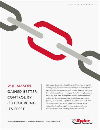 Ryder and W.B. Mason: A Secret Weapon For Your Fleet and Business Growth