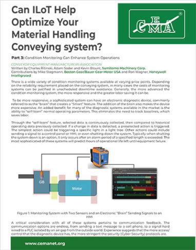 CEMA: Can IIoT Help Optimize Your Material Handling Conveying Systems, Part 3