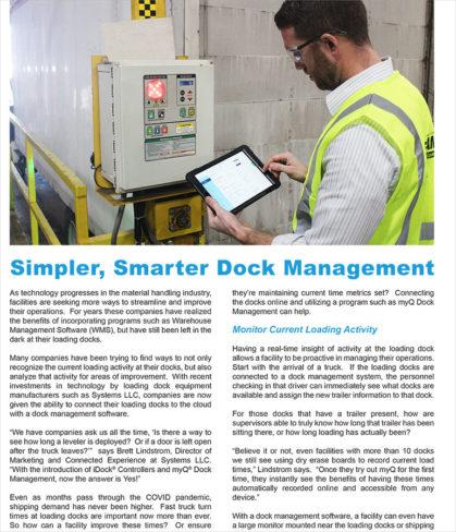 Systems, LLC: Simpler, Smarter Dock Management