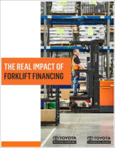 Toyota  real impact forklift financing cover