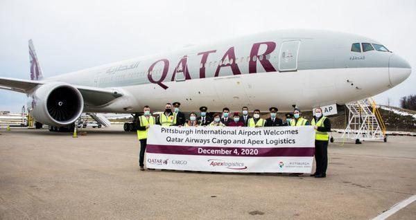Qatar Airways Cargo Returns to Pittsburgh International Airport