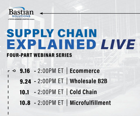 Bastian Solutions Launches Webinar Series, Supply Chain Explained: LIVE