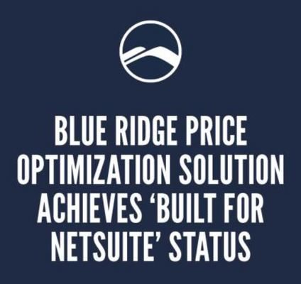 Blue Ridge Price Optimization Solution Achieves 'Built for NetSuite' Status