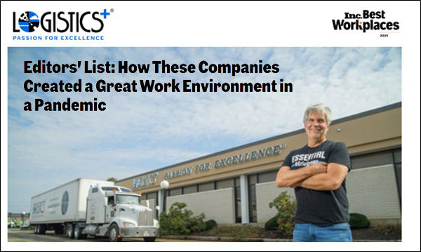 Logistics Plus Named to Inc.'s 2021 Best Workplaces Editors' List