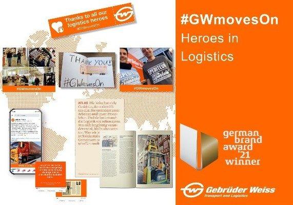 """Gebrüder Weiss honored as """"logistics heroes"""""""