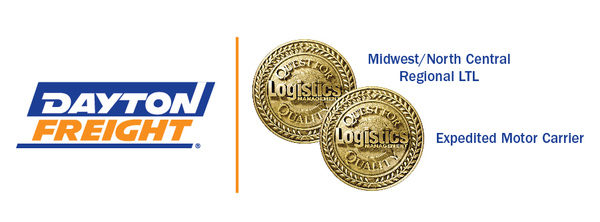 DAYTON FREIGHT WINS TWO LOGISTICS MANAGEMENT 2020 QUEST FOR QUALITY AWARDS
