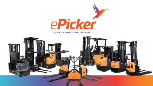 ePicker Announces Line of Material Handling Equipment for eCommerce, Retail, Manufacturing, etc.