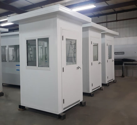 Panel Built Prefabricated Booths Offer Quick Parking Solution for Winter