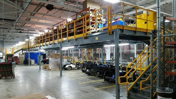 Panel Built Mezzanines Create Semi-Permanent Storage Space in Crowded Facilities