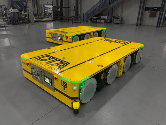 The Future of Heavy Industry Transportation: Dolphin AGVs by DTA