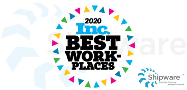 Shipware is Recognized by Inc. Magazine as One of 2020's Best Workplaces