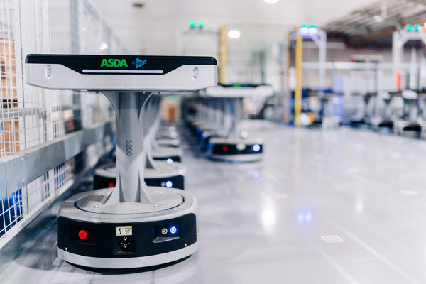 Geek+ and AMH Material Handling deliver robotic sortation project with Asda Logistics Services