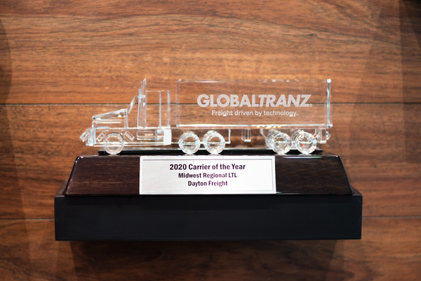 DAYTON FREIGHT IS HONORED BY GLOBALTRANZ, LOGISTICS PLUS AND TFORCE WORLDWIDE