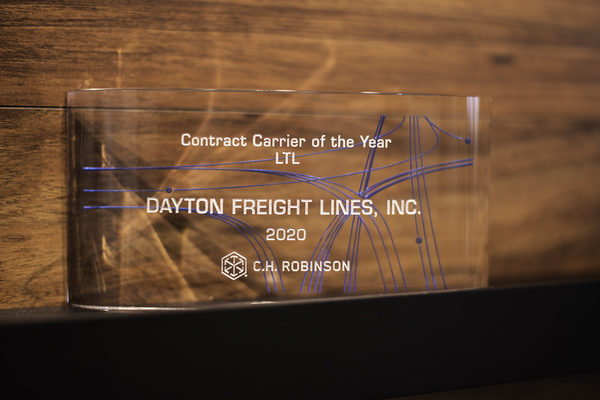 C.H. ROBINSON SELECTS DAYTON FREIGHT AS A CONTRACT CARRIER OF THE YEAR