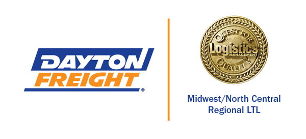 DAYTON FREIGHT HONORED WITH A LOGISTICS MANAGEMENT 2021 QUEST FOR QUALITY AWARD
