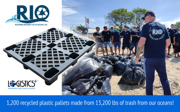 Logistics Plus Supports Oceans by Purchasing Recycled Plastic Pallets