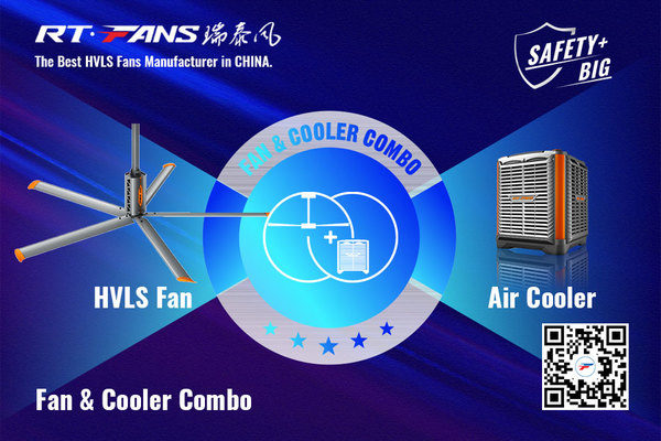 HVLS Fan and Air Cooler Combo - New ideas for ventilation and cooling.