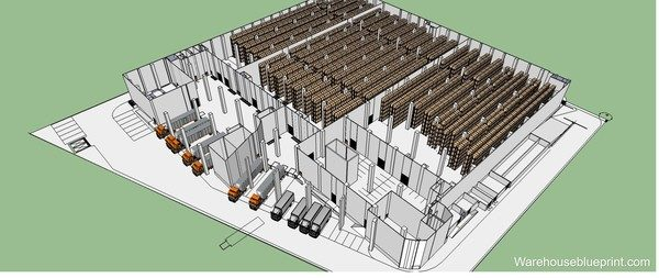 Model your warehouse layout in 3D easily