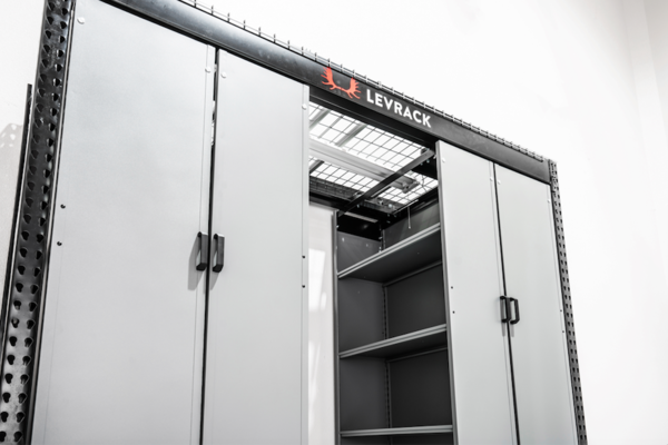 Store 3200 Pounds of Goods With New Levrack 873 Floating Cabinets