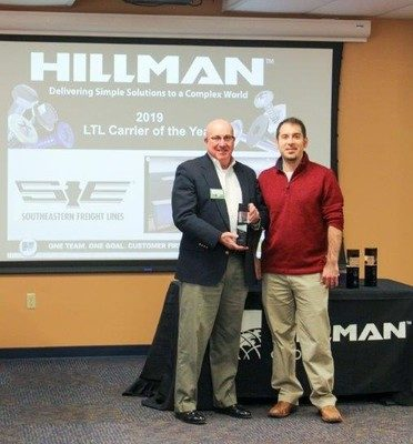 Southeastern Freight Lines Recognized as Hillman Group LTL Carrier of the Year
