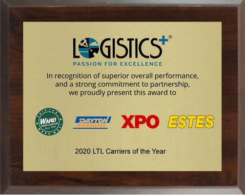 Logistics Plus Recognizes 2020 LTL Carriers of the Year
