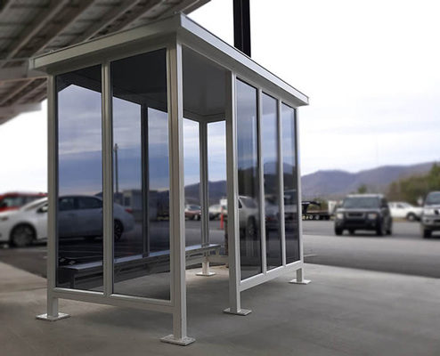 Conveniently Upgrade Outdoors Spaces Through Prefabricated Transit Shelters
