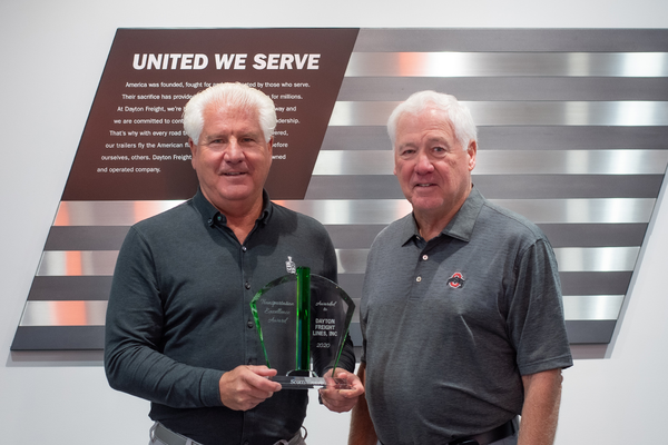 DAYTON FREIGHT RECEIVES THE TRANSPORTATION EXCELLENCE AWARD
