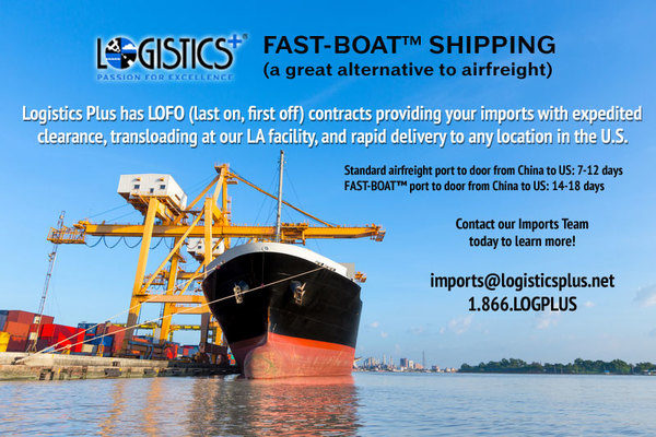 Logistics Plus Offers FAST-BOAT™ Shipping Services as Airfreight Alternative