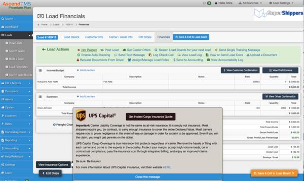 UPS Capital Expands Shipment Insurance Options for Logistics Businesses through AscendTMS Software