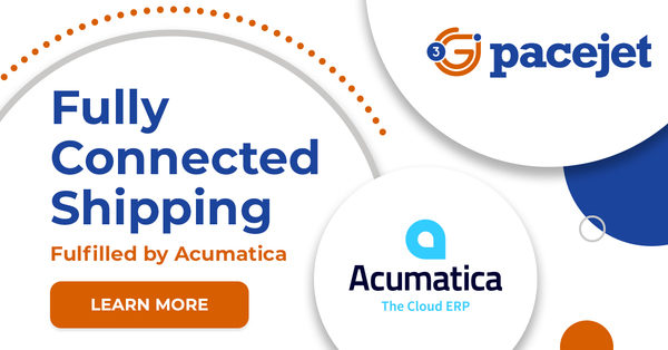"Pacejet Fully Connected Shipping Now ""Fulfilled by Acumatica"""