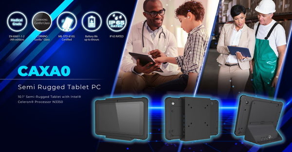 Avalue Launches CAXA0, a Medical Grade Semi Rugged Tablet PC