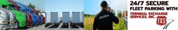 Gary, IN new 24/7 access Secure Fleet Tractor-Trailer Parking by TXS.