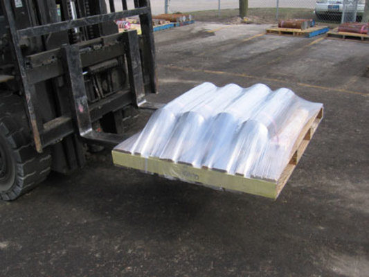 Orbital Wrapper Eliminates Lateral Forces,  Keeps Lightweight Parts, Products on Pallet